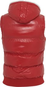 Urban Classics TB332 Hooded Bubble Vest Red/White