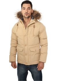 Urban Classics TB574 Chambray Lined Parka Beige