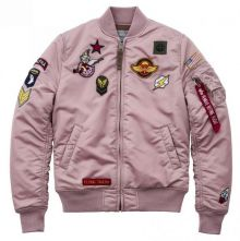 Alpha Industries MA-1 VF Patch wmn silver pink 178001