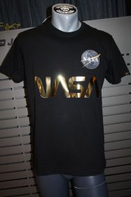 Alpha Industries NASA Reflective T-Shirt black/gold