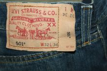 Levis Jeans 501 stone used