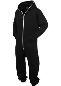 Urban Classics TB277 Sweat Jumpsuit  Black/White