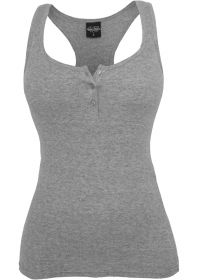 Urban Classics TB452 Ladies Button Tanktop Grey