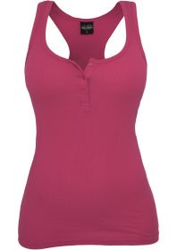 Urban Classics TB452 Ladies Button Tanktop Fuchsia