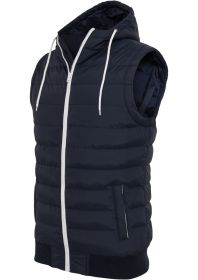Urban Classics TB510 Small Bubble Hooded Vest Navy/White
